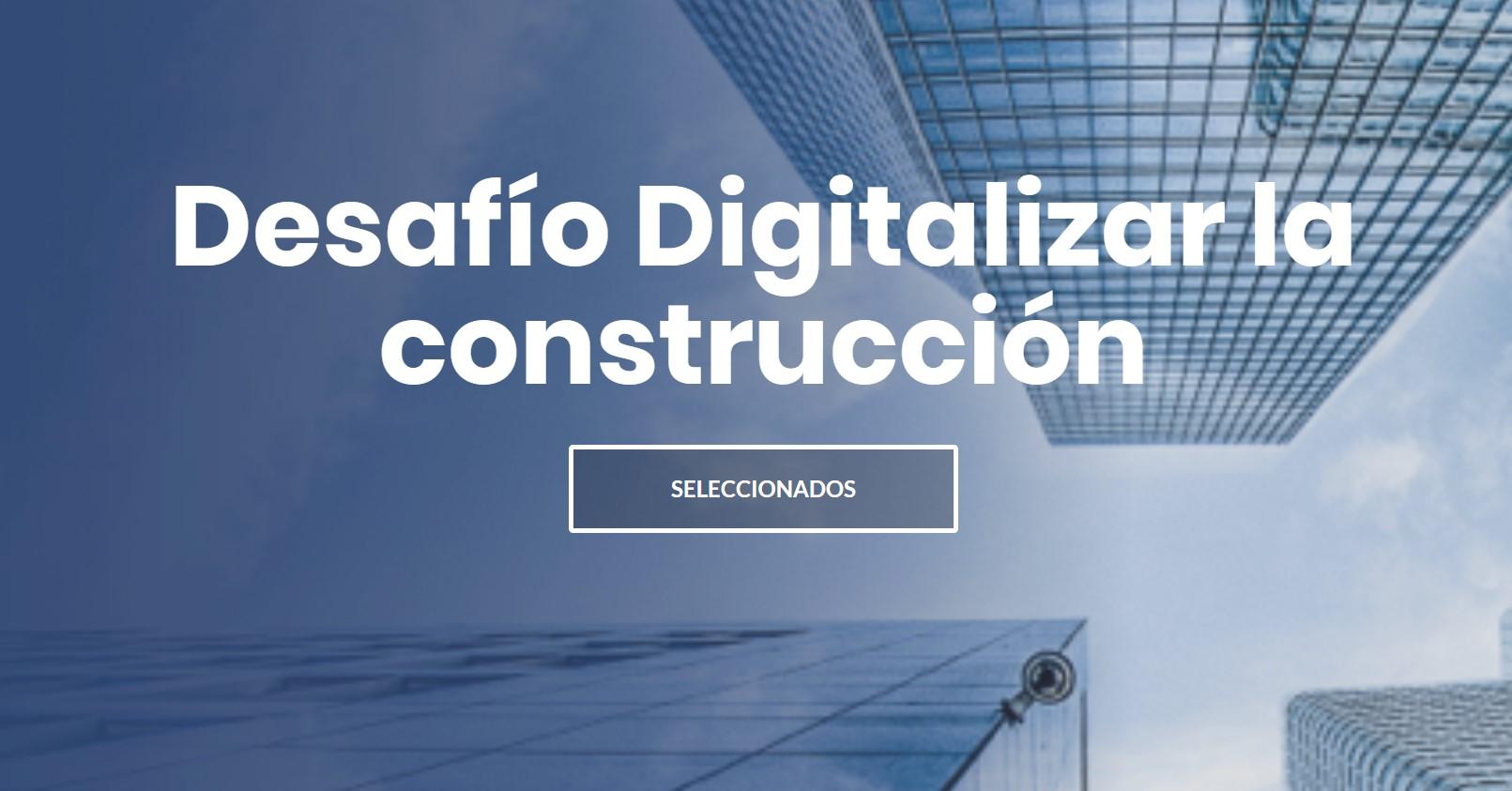 """CIUDATUM seleccionado en desafío """"Digitalizar la Construcción"""""""